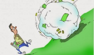 bola de neve de dividas